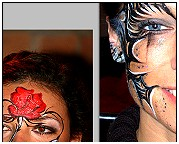 Facepainting. Making of ... Ornamente Tattoo Schmuck Facepainting. Körperbemalung. Facepainting Evelina Iacubino